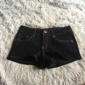 Forever 21 Dark Wash Indigo Low Rise Shorts 0 / 24